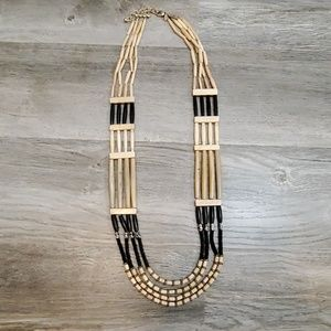 Black and Tan beaded necklace